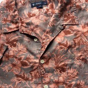 Men 2XL Floral Print Shirt